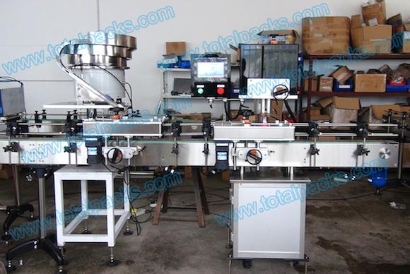 Linear Four Wheels Capping Machine for Bottles and Jars with Screw Thread Caps (CP-300A)