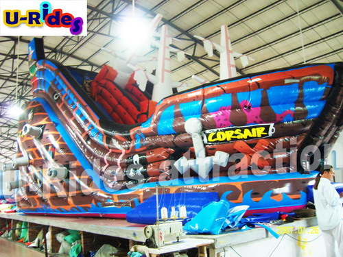 Inflatable Pirate Ship Castle with Slide