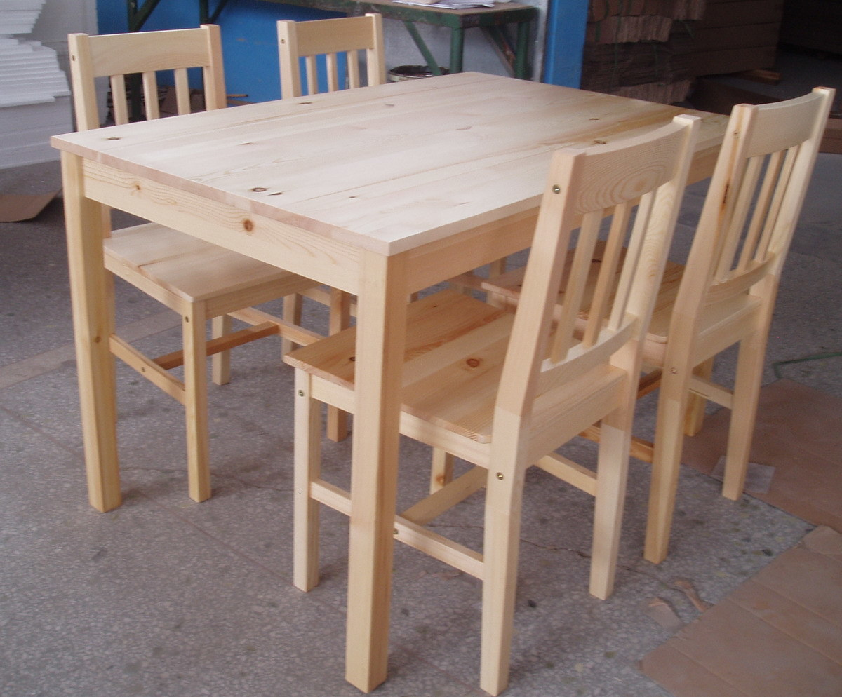 China Pine Dining Table Chairs Tc8102 China Pine Chair Pine Table