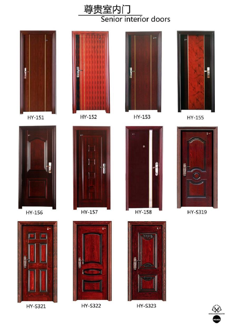 Customized Color Simple Design Steel Security Interior Door (HY-113)
