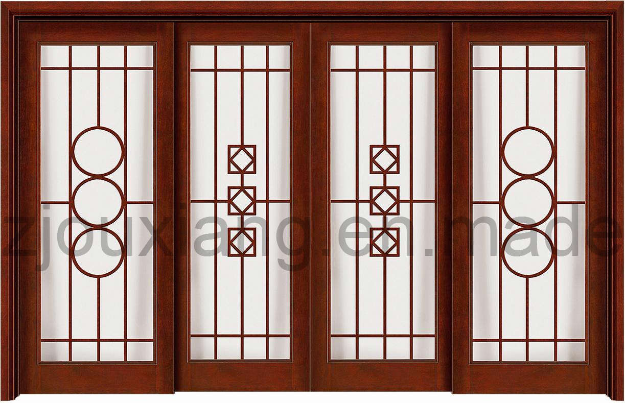 Wood doors for Sliding door with glass