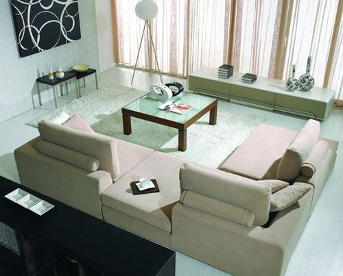 China Aquo Clean Fabric Sofa A8038 China Aquo Clean