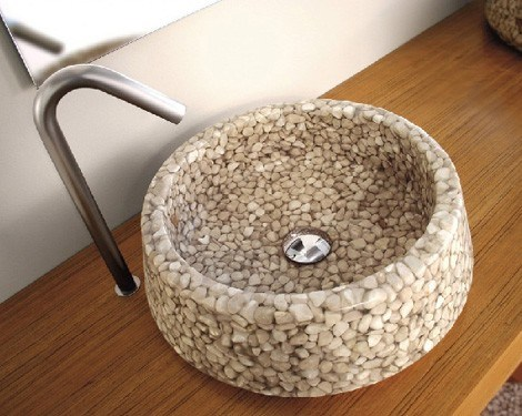 Pebble Stone Basins Artificial Stone