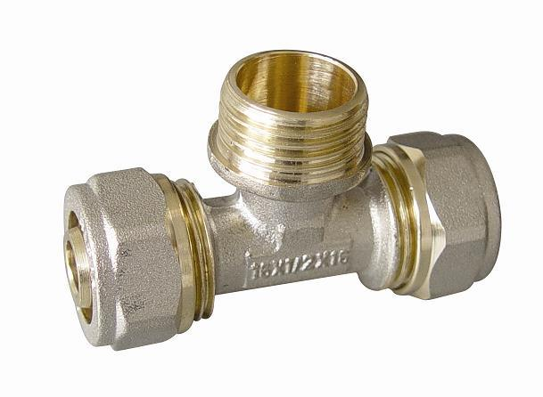 Brass Fitting (Tee Male) for Pex-Al-Pex Pipe