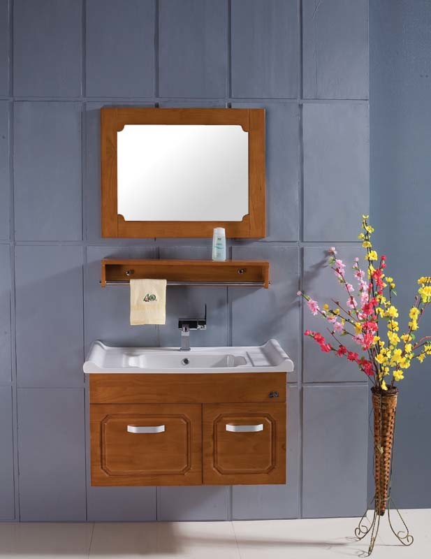 Oak Bathroom Wall Cabinet BX 8040 China Oak Bathroom