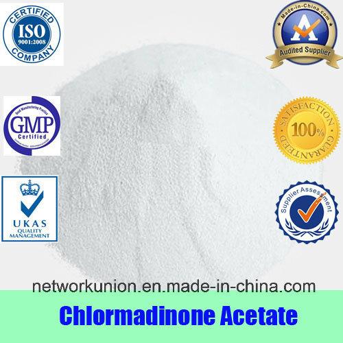 Progesterone Estrogen Steroids Powder CAS 302-22-7 Chlormadinone Acetate
