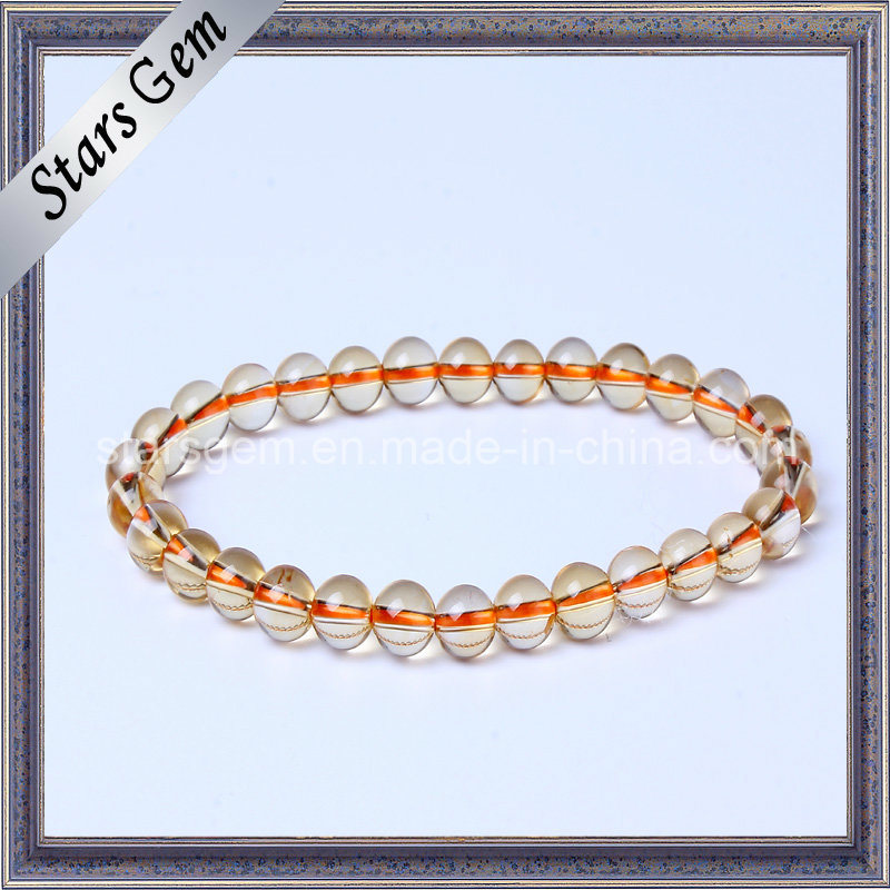 Good Qualiry Fashion Yellow Quartz Citrine Beads Jewelry Bracelet