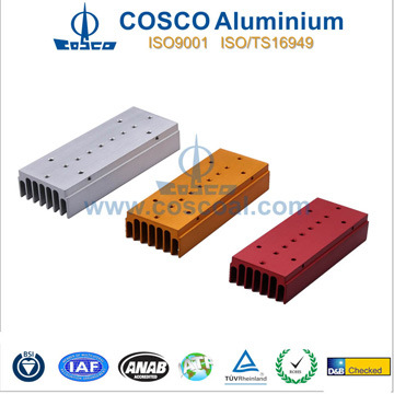 Competitive Aluminum Extrusion for Heatsink with Clear Anodizing&CNC Machining