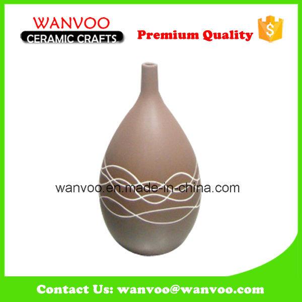 Decorative Matt Narrrow Mouth Flacon Bud Vase