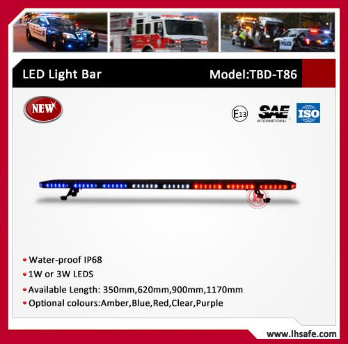 Ultrathin Aluminum LED Emergency Warning Light Bar (TBD-T86)