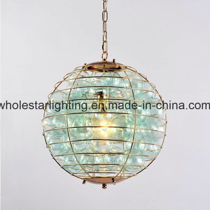 Modern Chandelier Lamp with Glass Balls