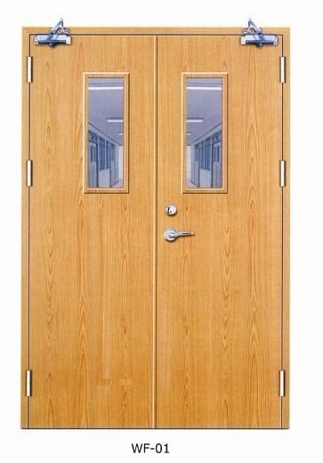 Solid Wooden Fire Proof Doors with Britain BS Standard Certified/Fire Door/Wooden Door