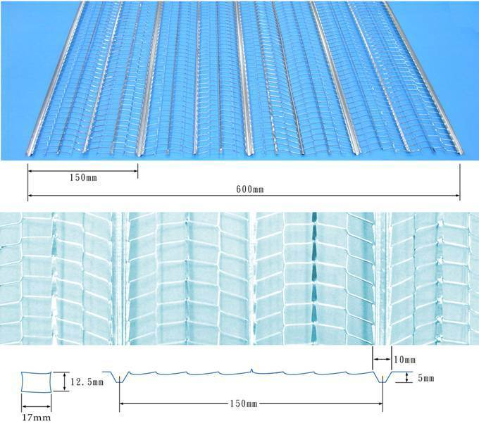 27′*96′ Paper Back Metal Lath Rib Lath Low Price China Factory