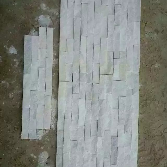 Natural Pure White Quartzite Ledge Wall Stone