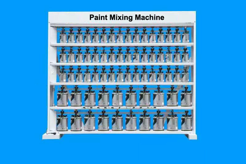 China 68 Cans Car Paint Mixing Machine China Paint Mixing