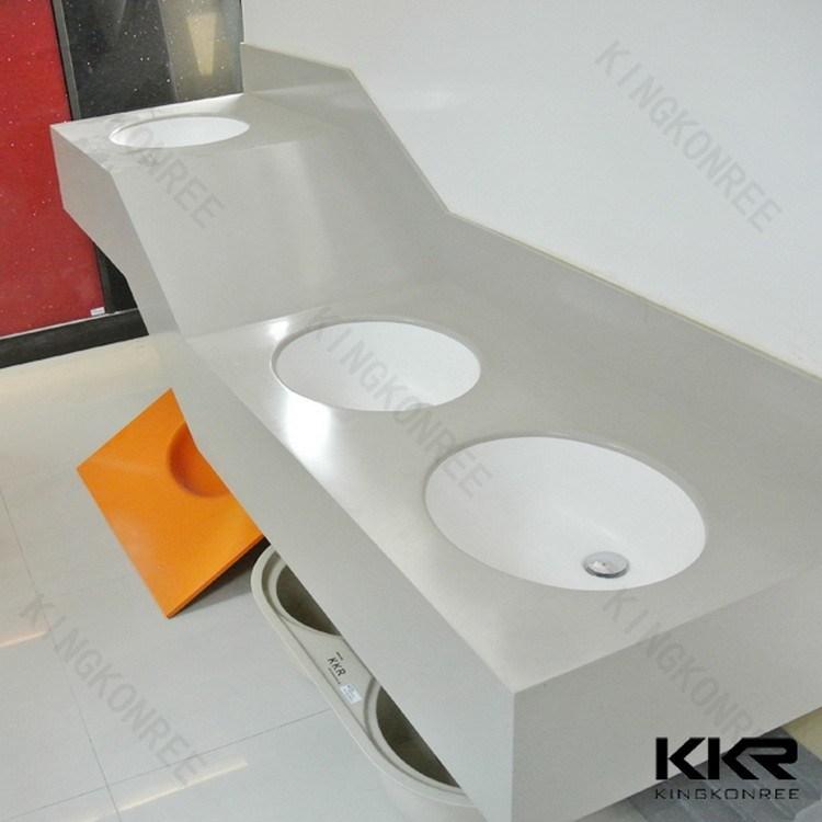 170406 Wholesale Customized Solid Surface Bathroom Vanity