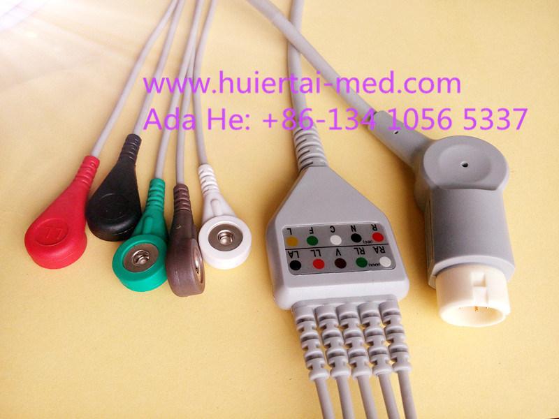 Mindray Snap&Clip Rou 12pin 5 ECG Cable