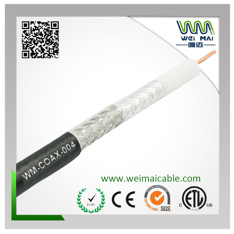 90% Braiding 18AWG CCS RG6 Coaxial Cable