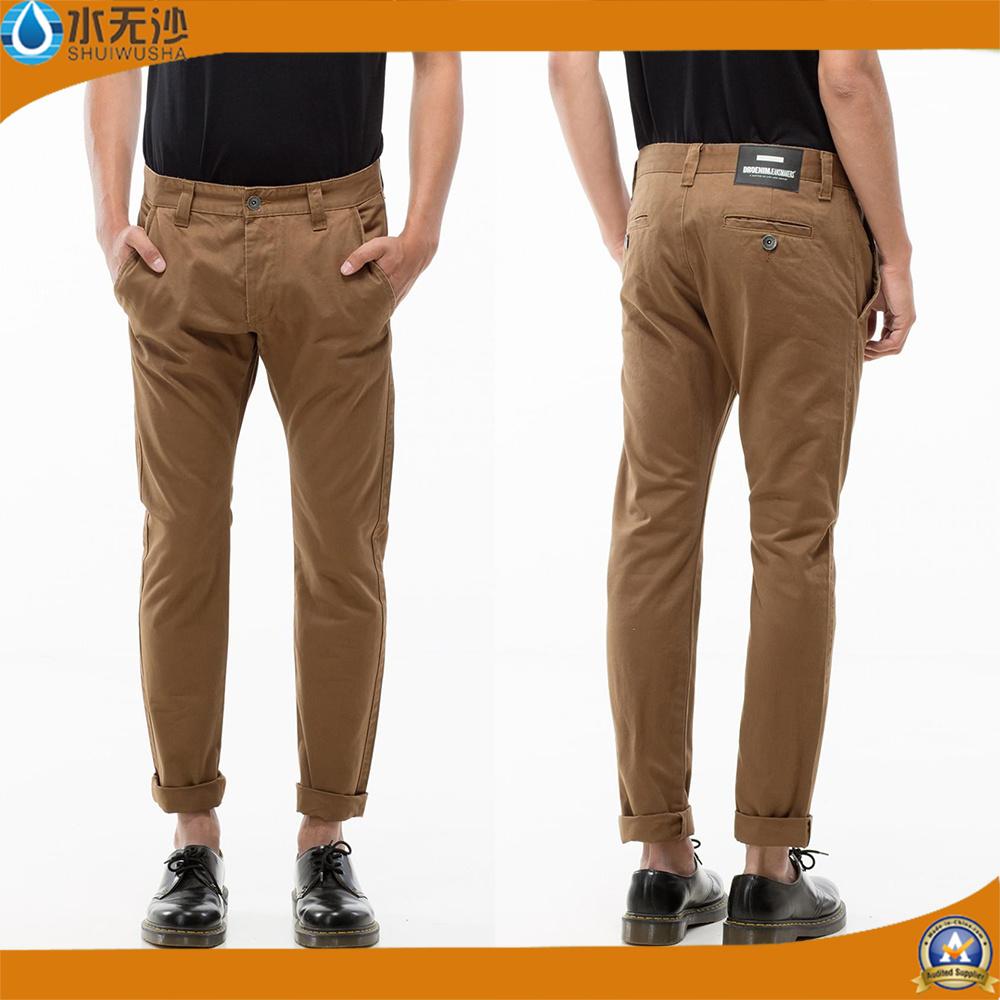 Factory Men′s Chino Pants Cotton Casual Cargo Pants