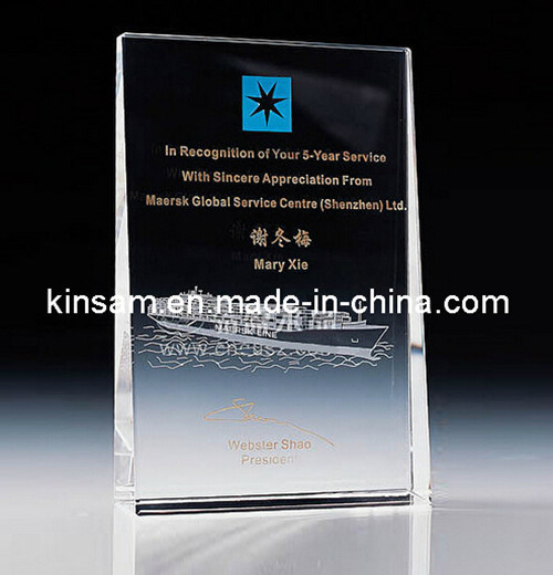 China Supplier Crystal Award with Stand for Souvenir Gifts (KS04147)