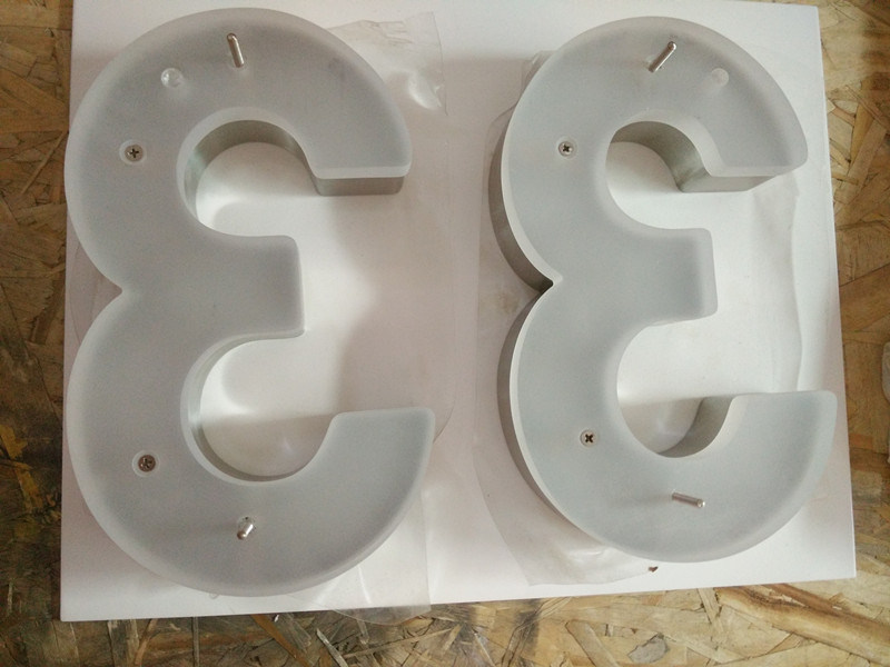 Vertical Brushed Stainless Steel Acrylic House Number Sign
