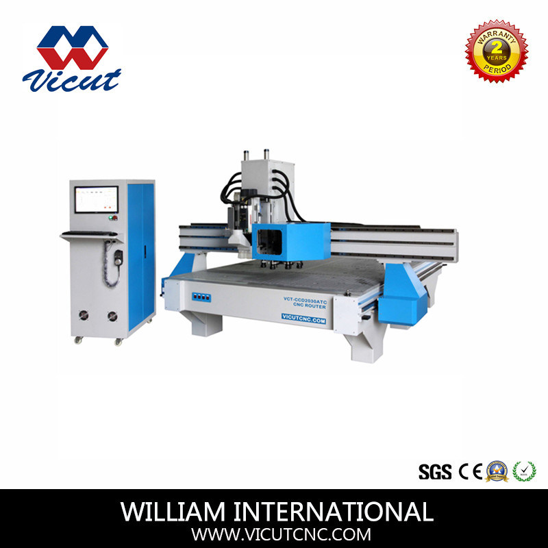 Auto Tool CNC Machine Woodworking Machine Carving Machine Engraving Machine (VCT-W2030ATC8)