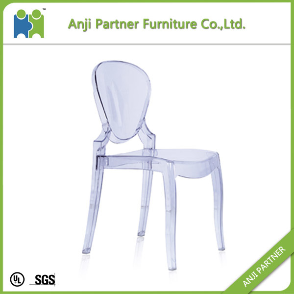 China Factory White Transparent PC Material Dining Room Chair (Constance)