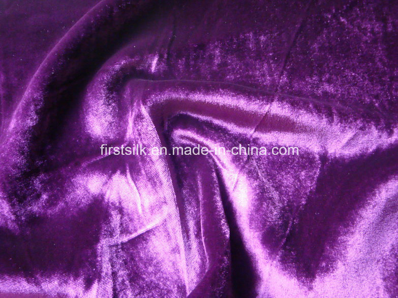 Silk Rayon Velvet with Burnout Printing Fabric