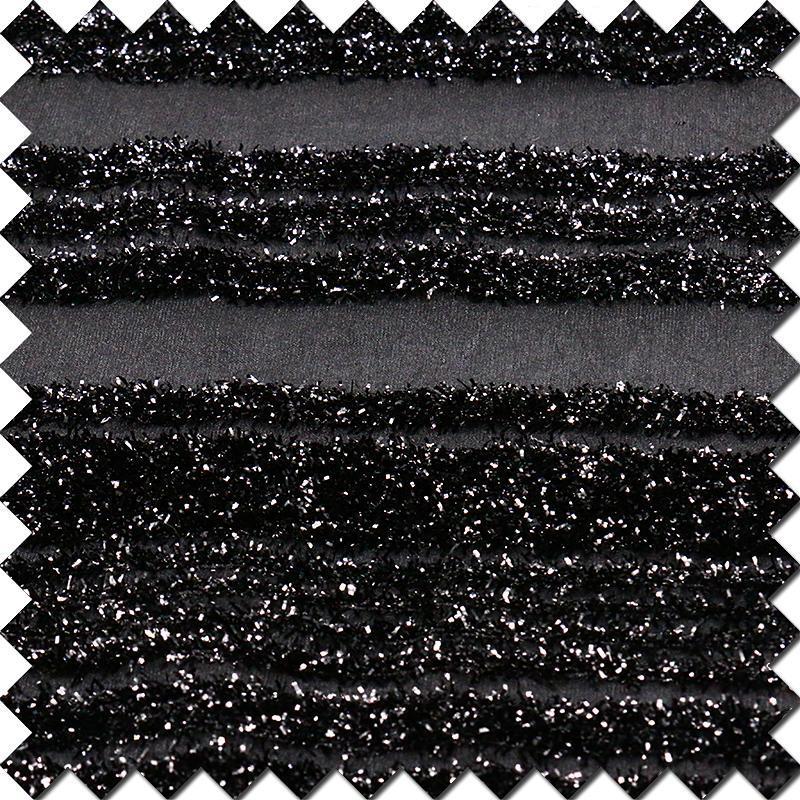 Shiny Black Polyester Nylon Fabric for Women′s Tops