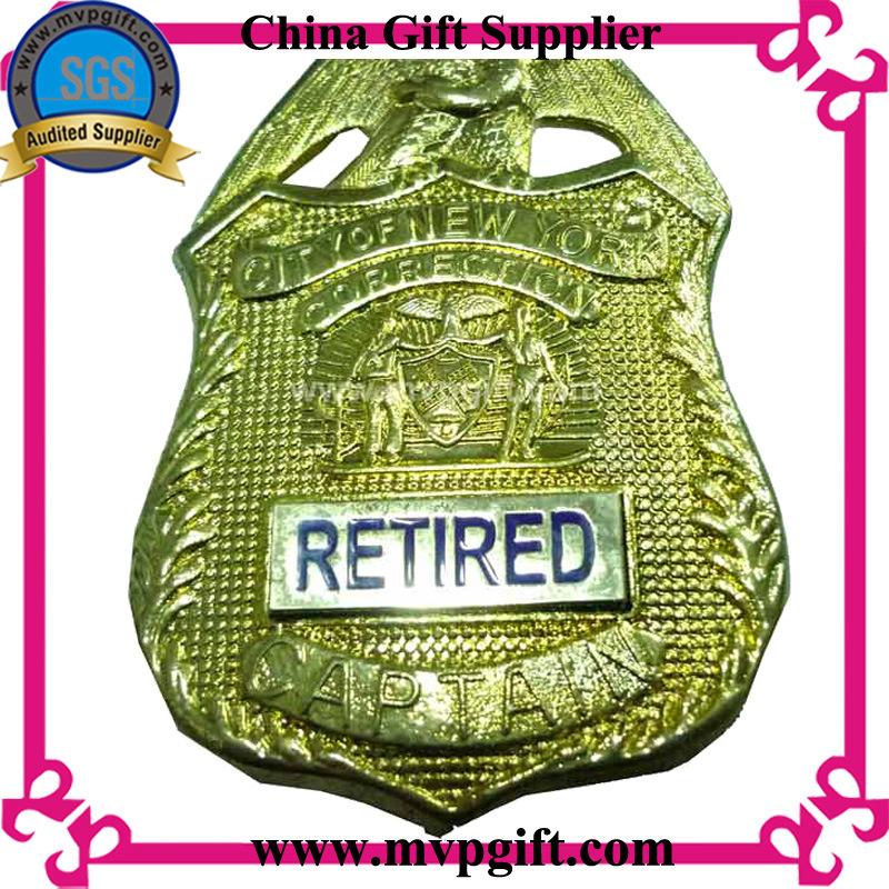 Metal Badge with Customer 2D/3D Logos Police Badge Use (m-pb001)