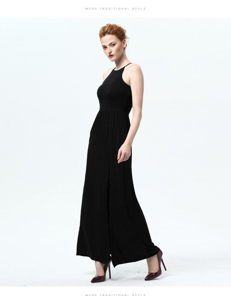 Fashion New Summer Women Halter Sexy Strapless Dress Skirt Ladies Split a Word Swing Dress
