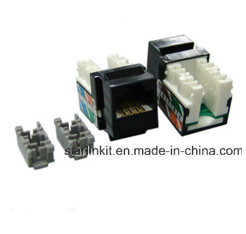 90 Degree 110 IDC CAT6 Keystone Jack for Patch Panel