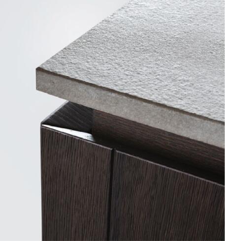 Italy Wood Veneer Modern Outdoor Kitchen Design
