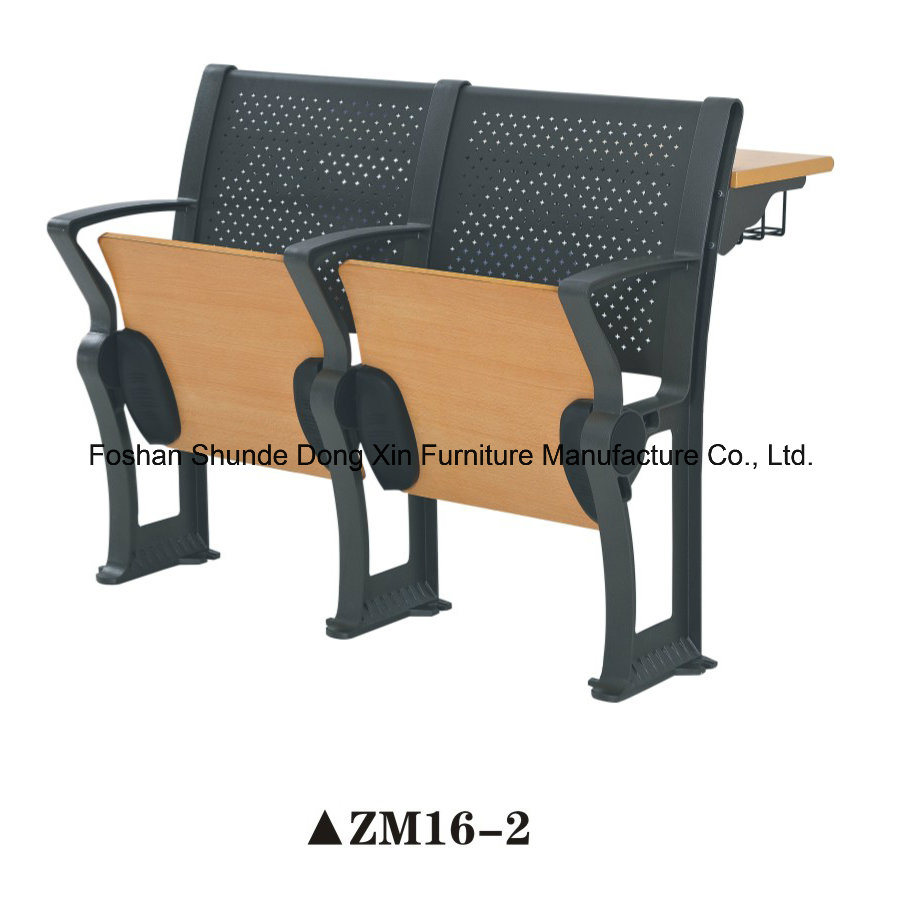Folding Aluminum University School Desk and Chair Classroom Furniture
