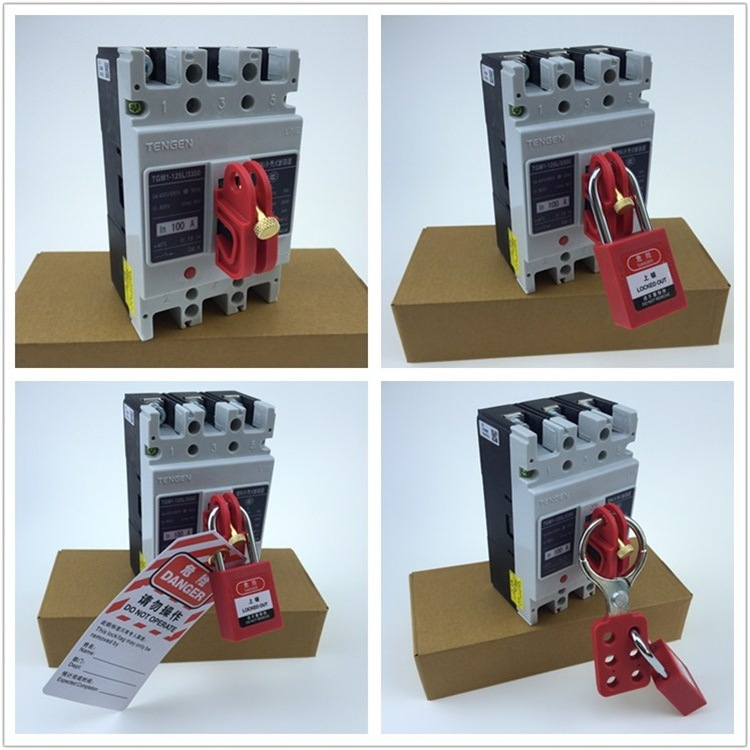 Easily Installed Circuit Breaker Lockout Without Tools