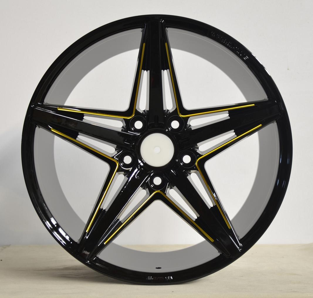 Aftermarket Alloy wheel with black machine face UFO-5047