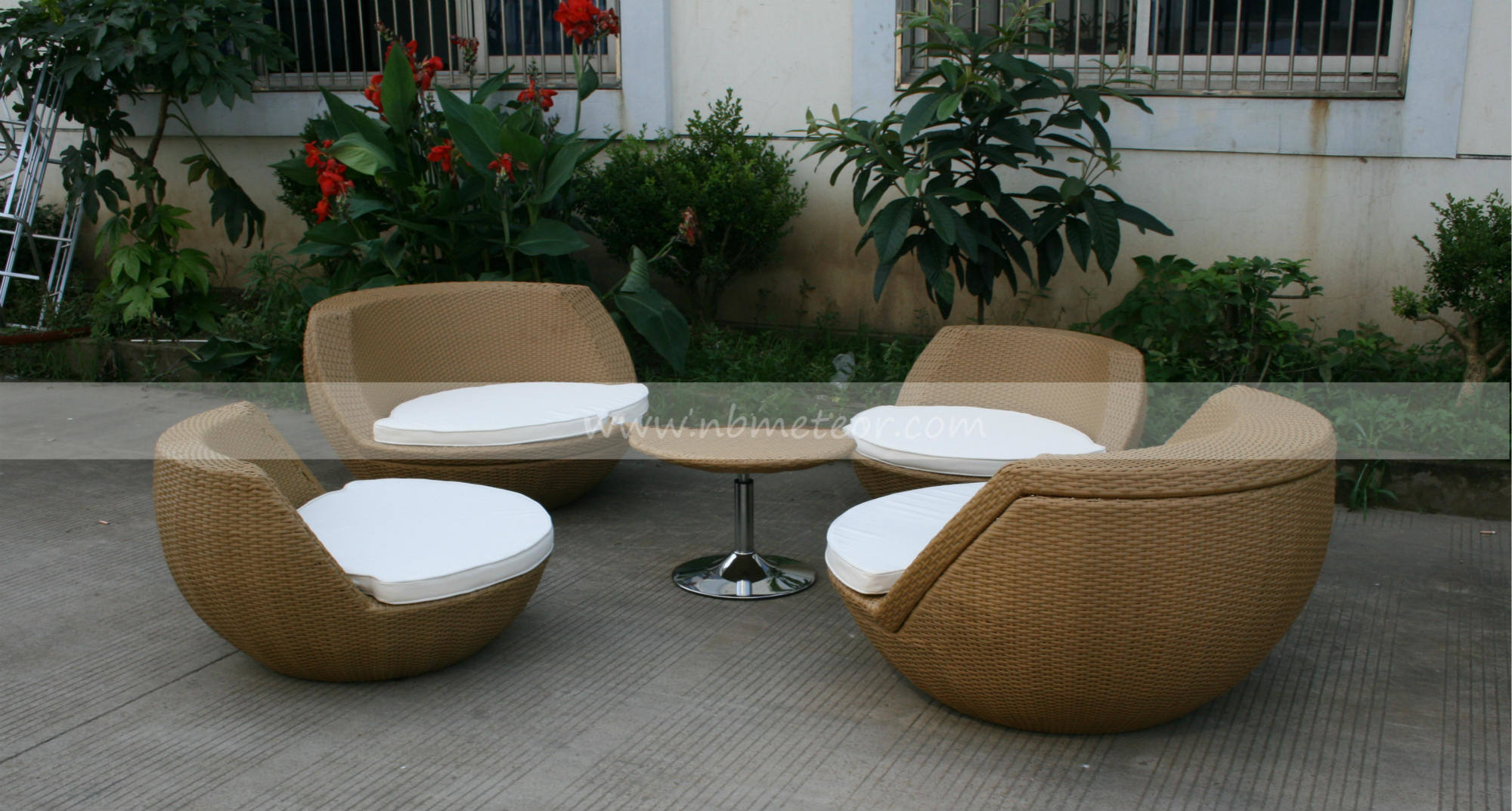 Outdoor Rattan Folding Round Ball Sofa Set (MTC-056)