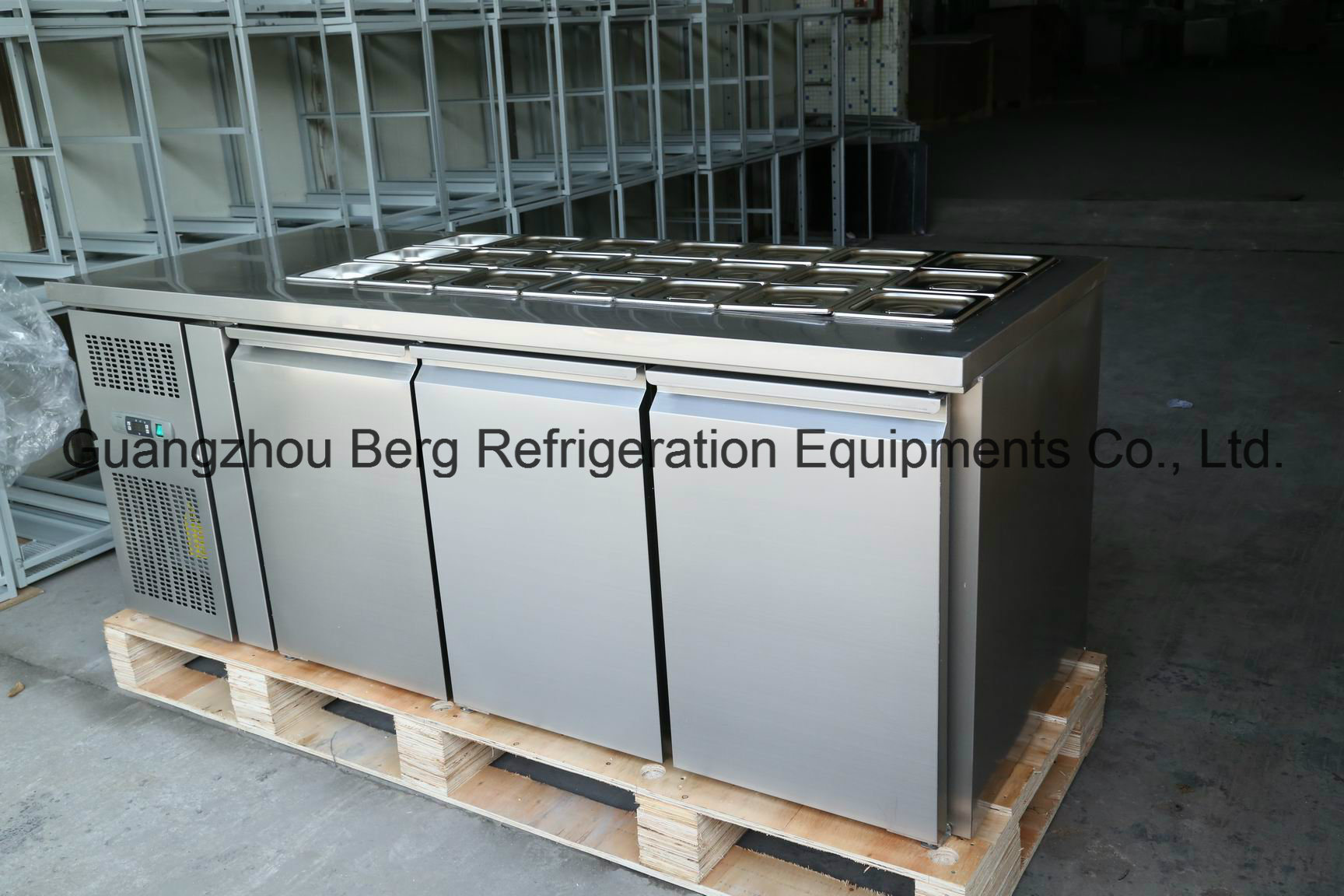 High Quality Stainless Steel Under Counter Refrigerator with Ce