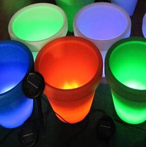 Outdoor Solar LED Flowerpot Light for Garden Plant Flower Decorative