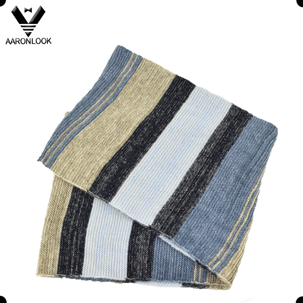 2016 Must Have Trendy Colorful Stripe Stretch Knitted Scarf