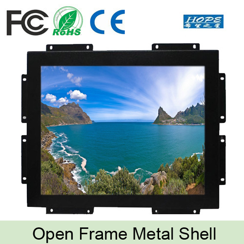 """Metal Case 15"""" Inch LCD Touch Open Frame Monitor"""