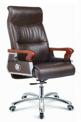 Meeting Executive Adjustable Office Chair with Wooden Arm