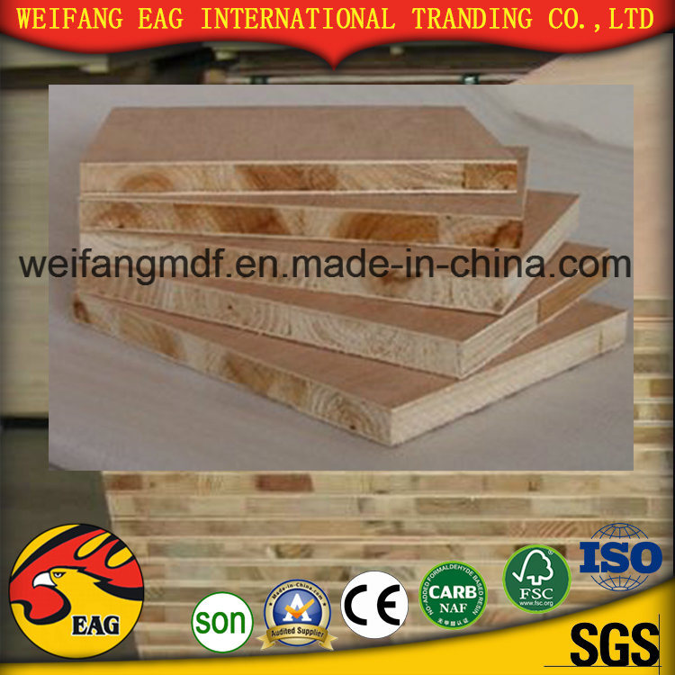 18mm Pine Core E1 Glue High Grade Good Quality Melamine Blockboard for Furniture