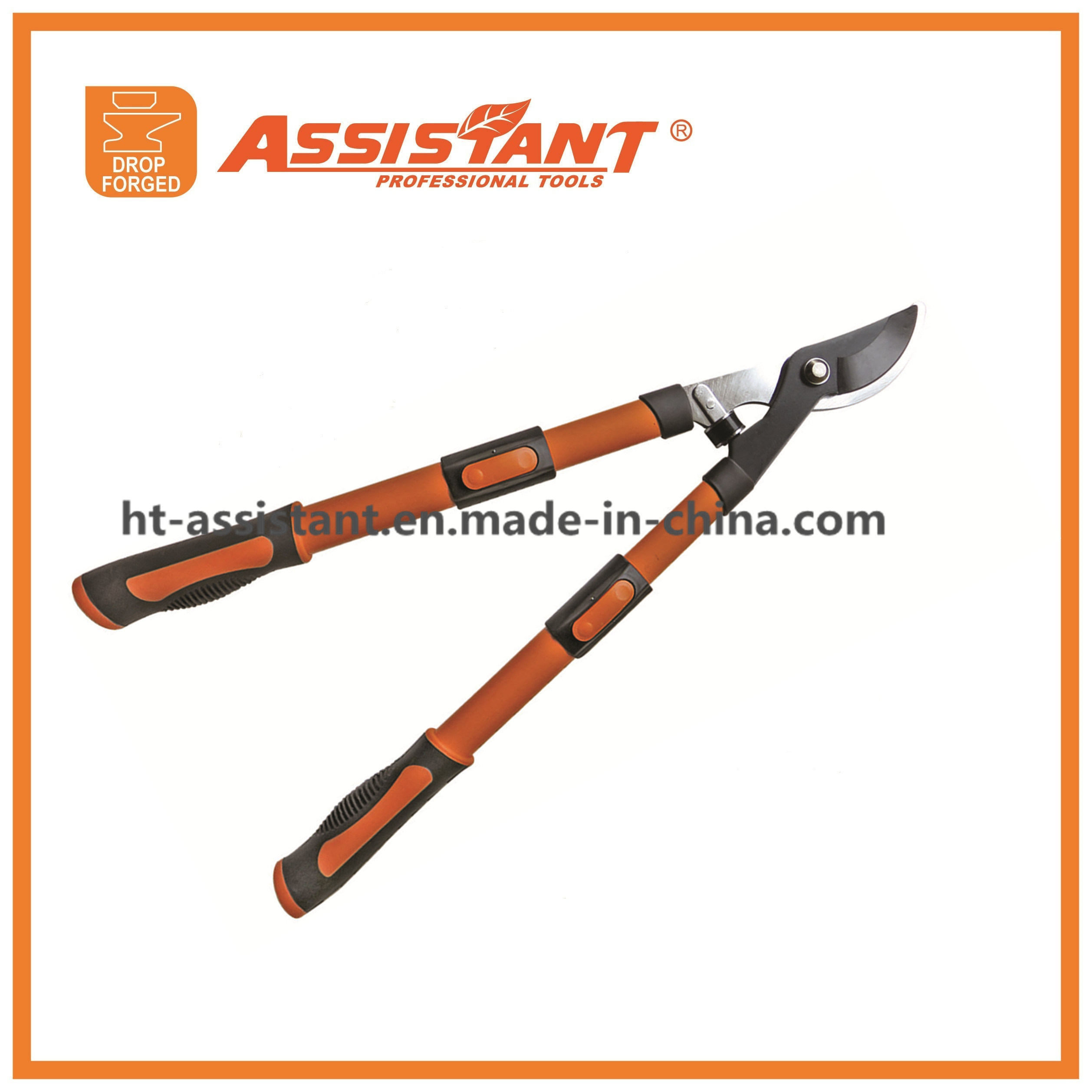 Black Teflon Coated Extendable Bypass Loppers Garden Tools