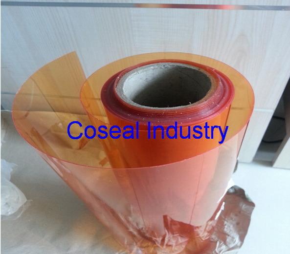 Orange Rigid PVC Sheet and PVC Film