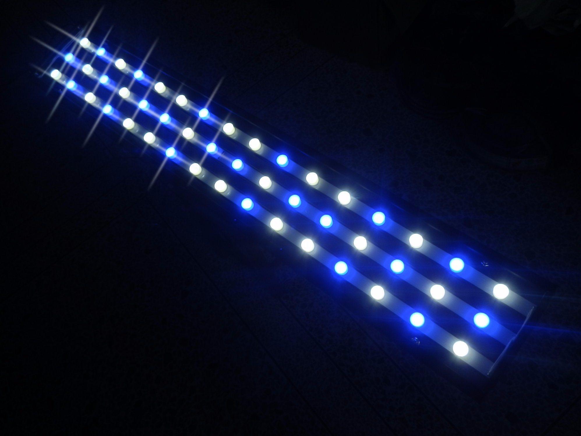 162W White+Blue LED Aquarium Light for Fish Tank