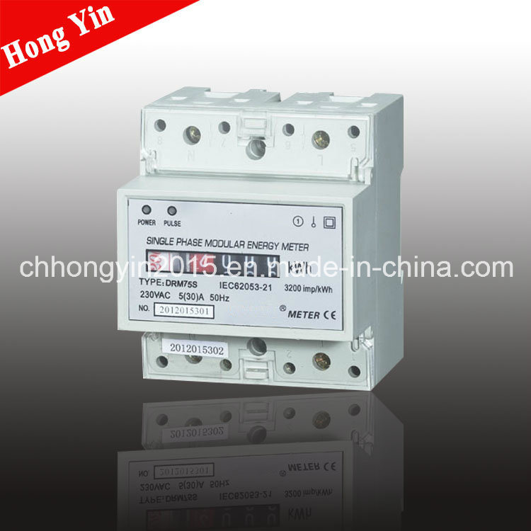 CE Certified DRM75s Single Phase Electronic Watt-Hour Meter