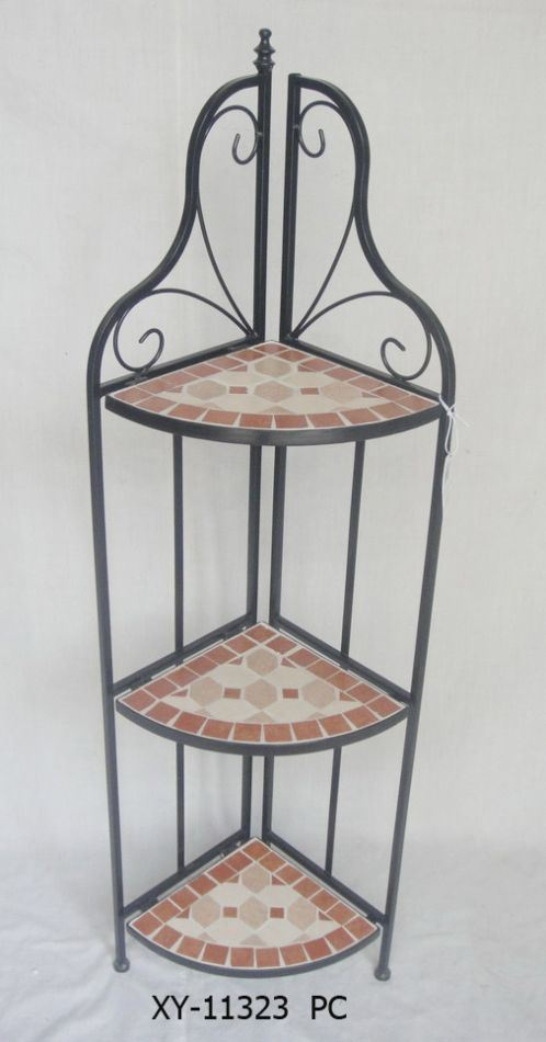 China Metal Mosaic Furniture Rack Corner Shelf Garden Plant Flower Stand China Metal Furniture