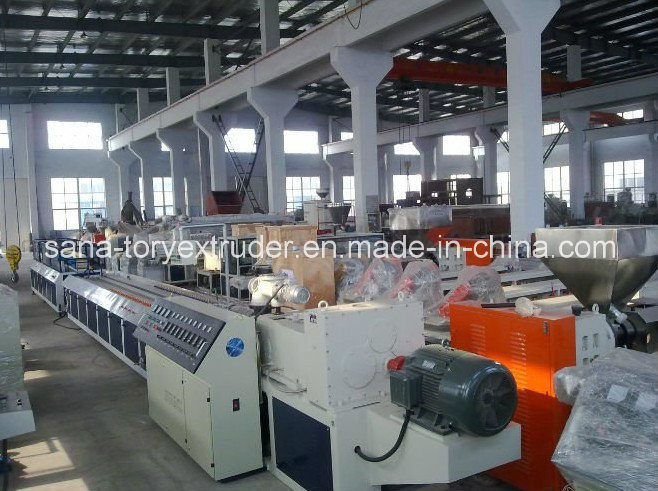 Newest Technology Wood Plastic PVC WPC Profile Extrusion Production Line