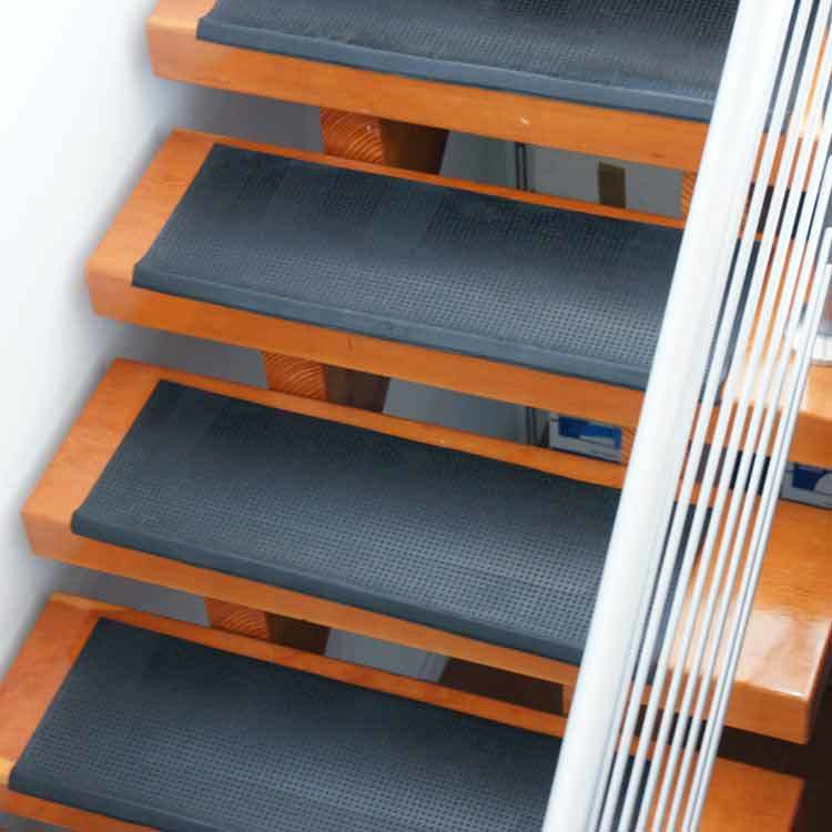 Anti Slip Non Skid Outdoor Staircase Rubber Step Tread Mats